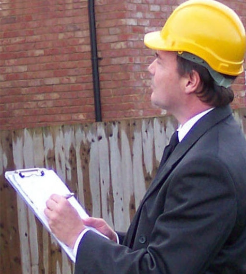 Surveyor with clipboard