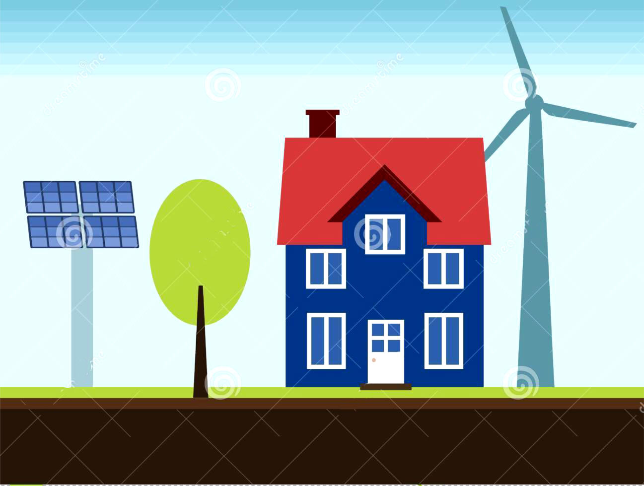 Electricians renewable energy right survey for Energy house